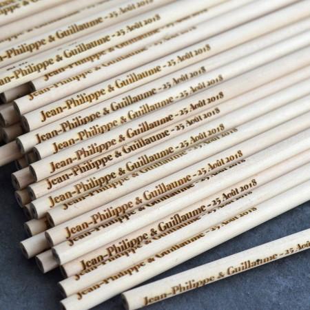 Crayon en bois Personnalisé - Lot de 50