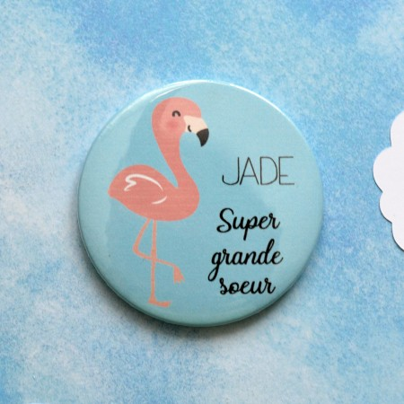 Badge baby shower grande soeur