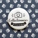 Badge Collectionneur d'éclats de rires - Photographe