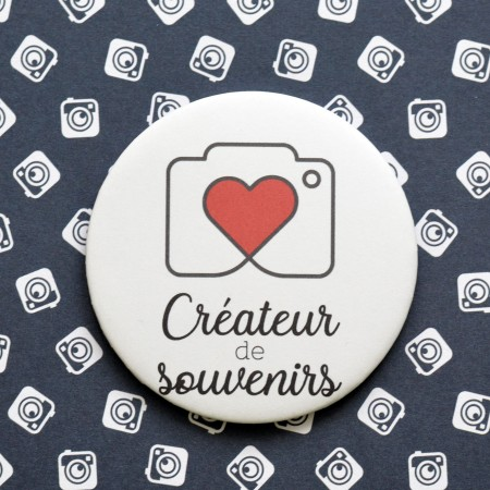 Badge Créateur de souvenirs - Photographe