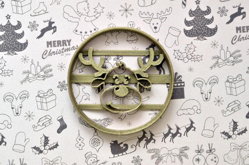 Emporte-pièce Rond Renne de Noël