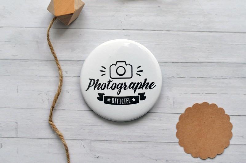 Badge Photographe Officiel