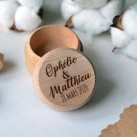 Boite à alliances en bois personnalisée