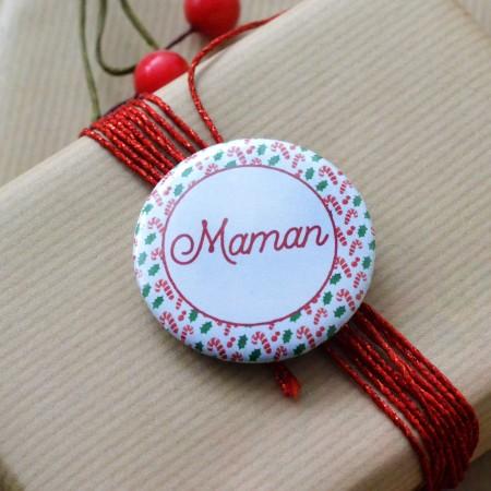 Badge personnalisé Noël