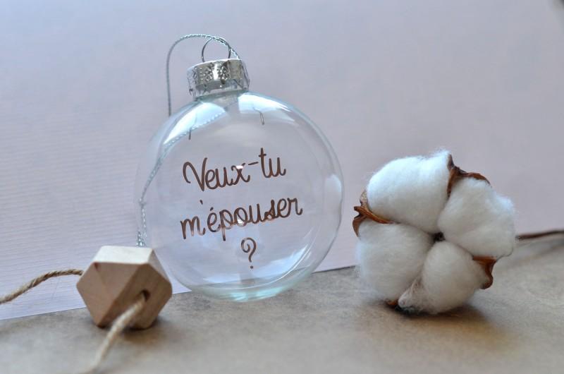 Boule de Noël Veux-tu m'épouser ?