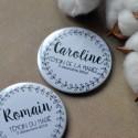 Badge personnalisé Couronne Florale