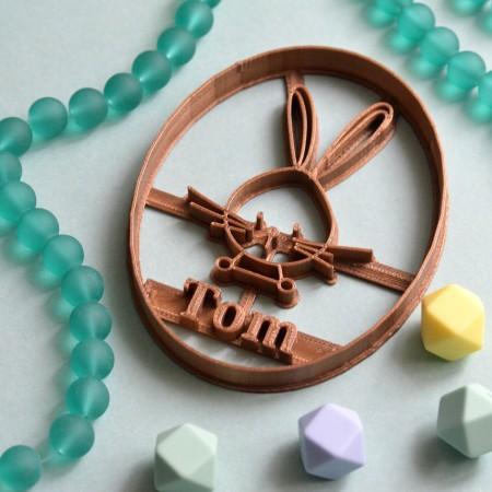 emporte-pièce paques lapin personnalisé
