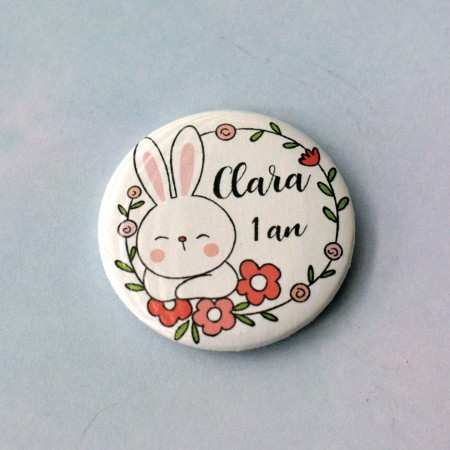 Badge Lapin personnalisé