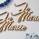 Marque-places en bois La Mariée - Le Marié