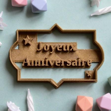 Emporte-Pièce Joyeux anniversaire - Plaque
