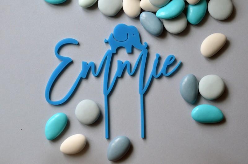 Cake topper personnalisé Éléphant