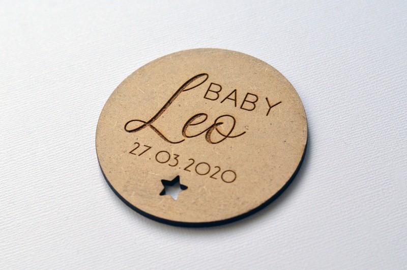 Carte Prénom Bébé en bois