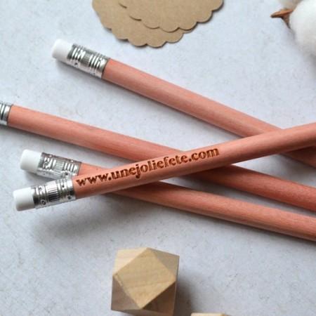 Crayon en bois Personnalisé avec gomme