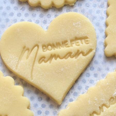 Emporte-pièce Coeur Bonne Fête Maman
