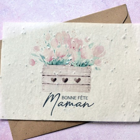 Carte ensemencée Bonne Fête Maman