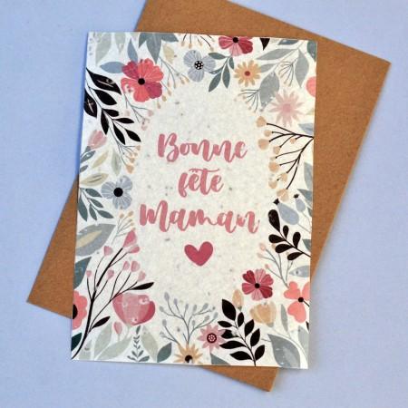 Carte ensemencée Bonne Fête Maman Fleurs