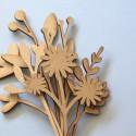 Fleur en bois