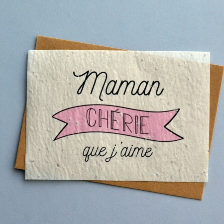 Carte ensemencée Maman Céhrie