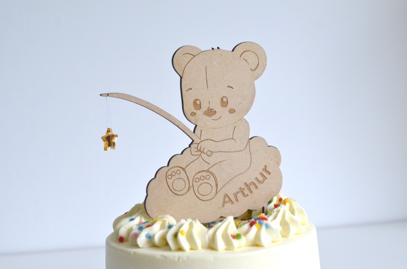 Cake Topper Ours Personnalisé
