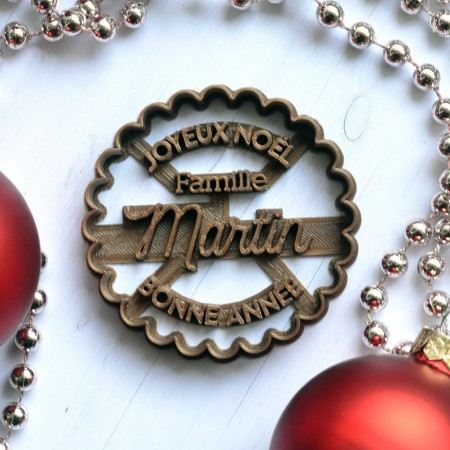 Emporte-pièce Noël personnalisable