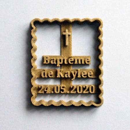 Emporte-Pièce Petit Beurre personnalisé Croix