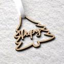 Décoration de Noël en bois Sapin avec prénom