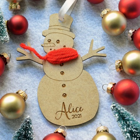 Décoration de Noël Bonhomme de neige personnalisé