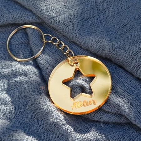 Porte-clé étoile personnalisé