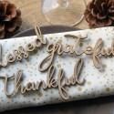 Décorations Thanksgiving en bois