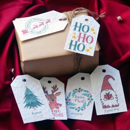 Étiquettes cadeau à planter Noël