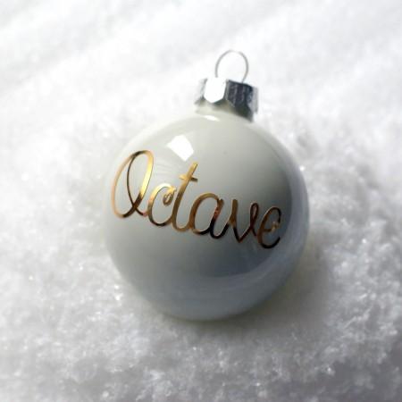 Boule de Noël personnalisée - Blanche